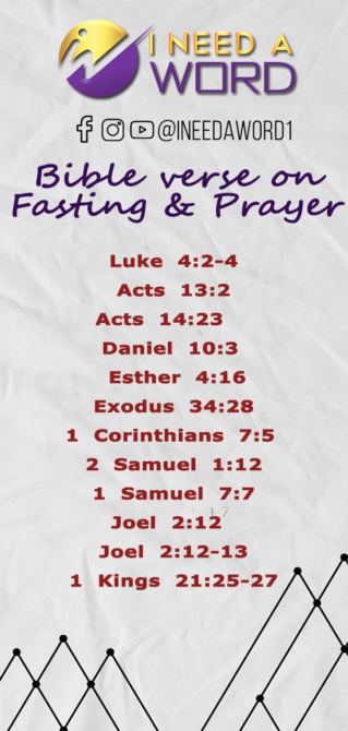 BIBLE VERSES ON FASTING AND PRAYER | I need a WORD